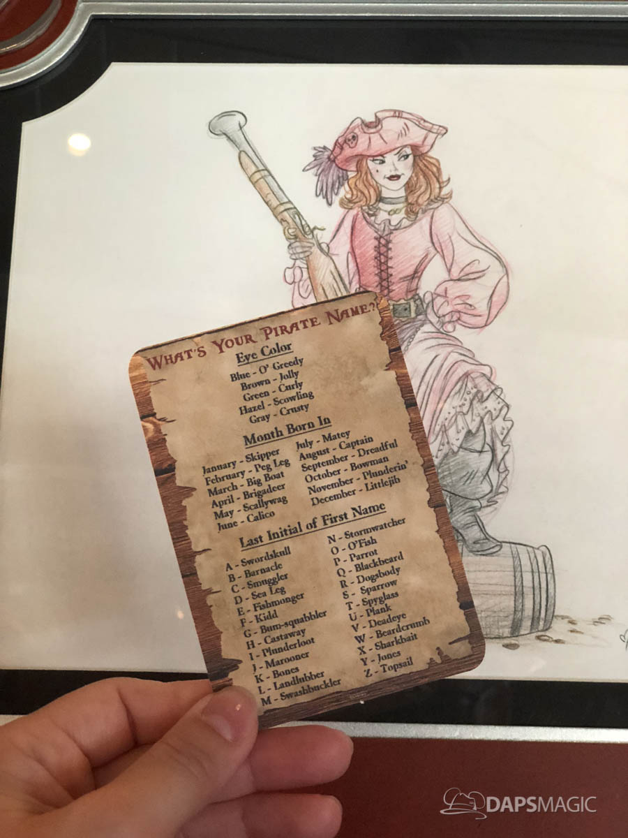 Pirates of the Caribbean Name Card