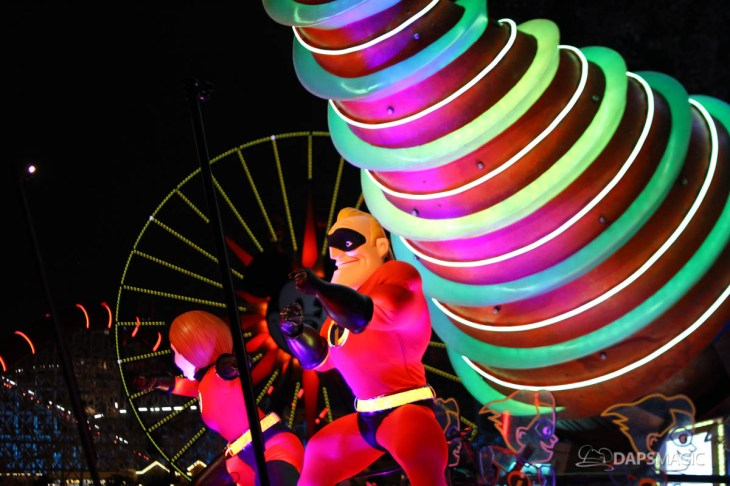 Pixar Pier Media Event - Paint the Night with Incredibles Float-56
