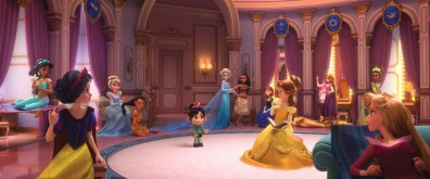 """ROYAL REUNION – In """"Ralph Breaks the Internet: Wreck It Ralph 2,"""" Vanellope von Schweetz—along with her best friend Ralph—ventures into the uncharted world of the internet. When she finds herself surrounded by Disney princesses, she's surprised to learn that she actually has a lot in common with them. The scene, highlighted in a new trailer for the film, features several of the original princess voices, including Auli'i Cravalho (""""Moana""""), Kristen Bell (Anna in """"Frozen""""), Idina Menzel (Elsa in """"Frozen""""), Kelly MacDonald (Merida in """"Brave""""), Mandy Moore (Rapunzel in """"Tangled""""), Anika Noni Rose (Tiana in """"The Princess and the Frog""""), Ming-Na Wen (""""Mulan""""), Irene Bedard (""""Pocahontas""""), Linda Larkin (Jasmine in """"Aladdin""""), Paige O'Hara (Belle in """"Beauty and the Beast"""") and Jodi Benson (Ariel in """"The Little Mermaid""""). Featuring Sarah Silverman as the voice of Vanellope, """"Ralph Breaks the Internet: Wreck It Ralph 2"""" opens in theaters nationwide Nov. 21, 2018...©2018 Disney. All Rights Reserved."""