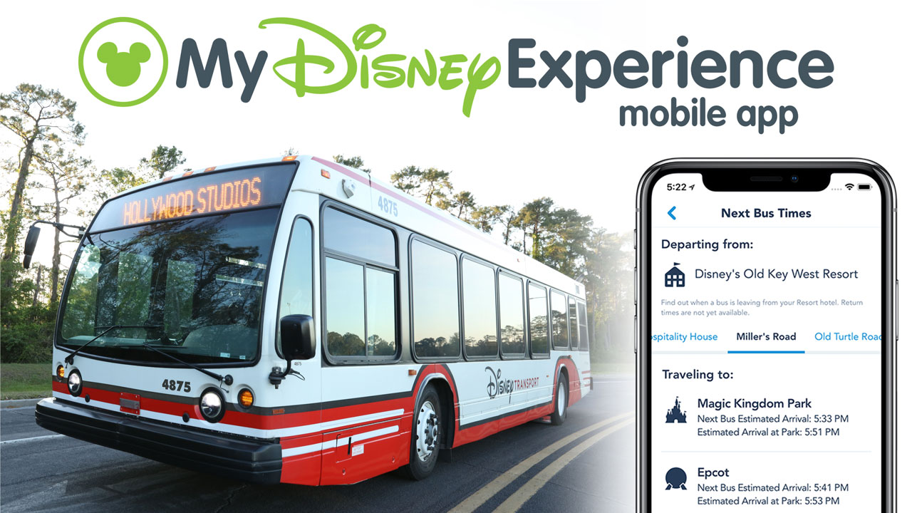 Redesigned My Disney Experience App Adds Bus Wait Time Tool