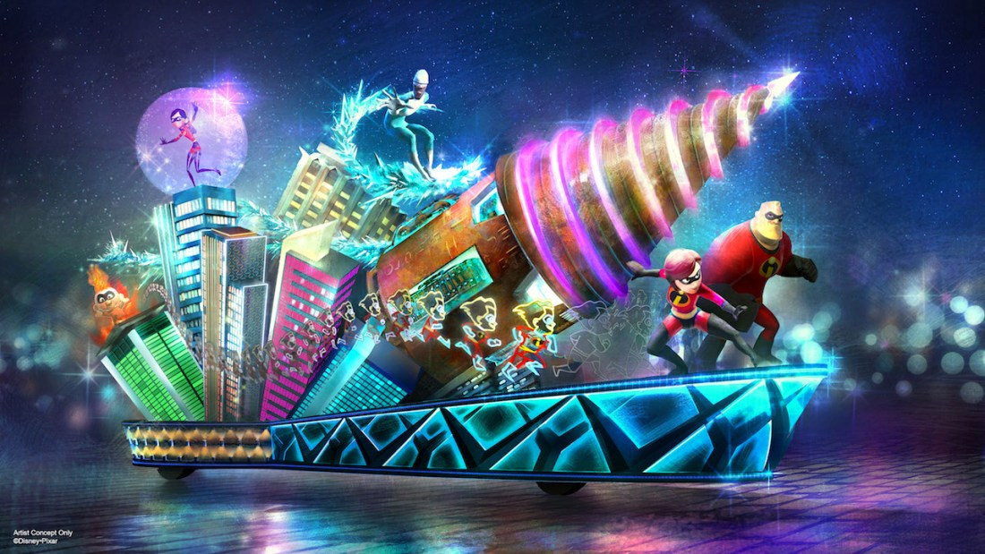 Incredibles Float Rendering - Disney's Paint the Night Parade