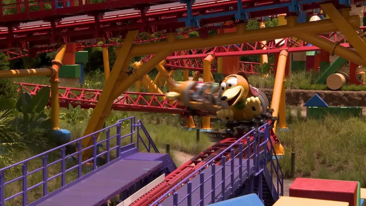 Walt Disney World Resort Cast Members Get an Early Ride on Toy Story Land's Slinky Dog Dash