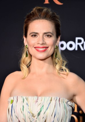 BURBANK, CA - JULY 30: Actor Hayley Atwell attends the world premiere of Disney's 'Christopher Robin' at the Main Theater on the Walt Disney Studios lot in Burbank, CA on July 30, 2018. (Photo by Alberto E. Rodriguez/Getty Images for Disney) *** Local Caption *** Hayley Atwell