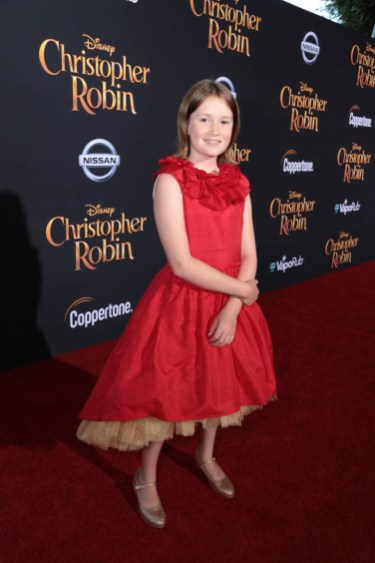 "Bronte Carmichael attends the world premiere of Disney's ""Christopher Robin"" at the Main Theater on the Walt Disney Studios lot in Burbank, CA on July 30, 2018. (Photo: Alex J. Berliner/ABImages)"