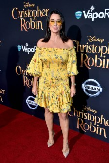 BURBANK, CA - JULY 30: Kyle Richards attends the world premiere of Disney's 'Christopher Robin' at the Main Theater on the Walt Disney Studios lot in Burbank, CA on July 30, 2018. (Photo by Alberto E. Rodriguez/Getty Images for Disney) *** Local Caption *** Kyle Richards