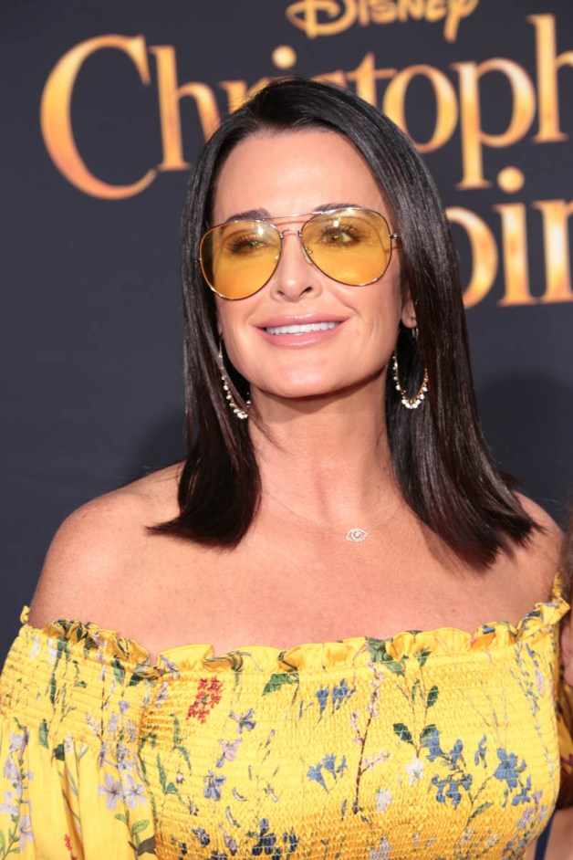 """Kyle Richards attends the world premiere of Disney's """"Christopher Robin"""" at the Main Theater on the Walt Disney Studios lot in Burbank, CA on July 30, 2018. (Photo: Alex J. Berliner/ABImages)"""