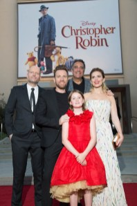 "Marc Forster, Ewan McGregor, Brad Garrett, Hayley Atwell and Bronte Carmichael attend the world premiere of Disney's ""Christopher Robin"" at the Main Theater on the Walt Disney Studios lot in Burbank, CA on July 30, 2018. (Photo: Alex J. Berliner/ABImages)"