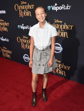 BURBANK, CA - JULY 30: Aubrey Anderson-Emmons attends the world premiere of Disney's 'Christopher Robin' at the Main Theater on the Walt Disney Studios lot in Burbank, CA on July 30, 2018. (Photo by Alberto E. Rodriguez/Getty Images for Disney) *** Local Caption *** Aubrey Anderson-Emmons