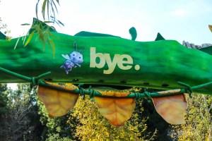 a bug's land says goodbye