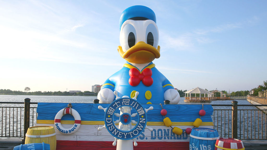 Giant Donald Duck at Shanghai Disney Resort