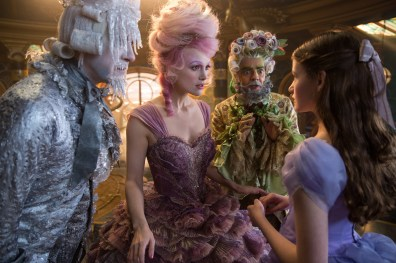 Richard E. Grant is Shiver, Keira Knightley is The Sugar Plum Fairy, Eugenio Derbrez is Hawthorne and Mackenzie Foy is Clara in Disney's THE NUTCRACKER AND THE FOUR REALMS.