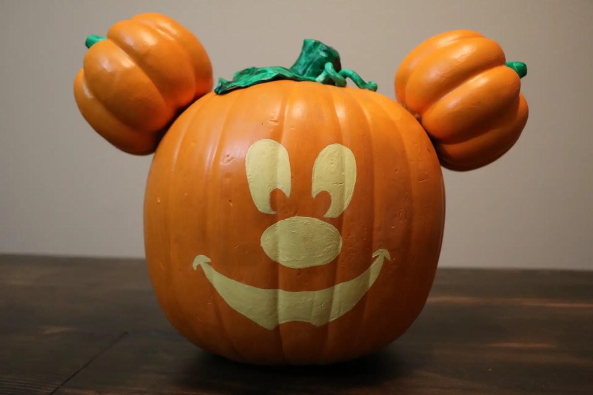 Celebrate Halloween the Disneyland Way With This Main Street, USA Mickey Jack-O-Lantern Pumpkin DIY!