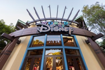 World of Disney, the ultimate shopping destination at the Downtown Disney District, now features a reimagined layout that makes shopping easier and more fun. The transformation begins with the storeÕs exterior, which features new marquees and magical window displays. Inside, guests discover an open atmosphere with uniquely themed areas featuring the hottest Disney merchandise. World of Disney regularly rolls out exclusive Disney Parks merchandise, reinforcing its reputation as a must-visit destination for Disney fans. The Downtown Disney District is located in Anaheim, Calif. (Joshua Sudock/Disneyland Resort)