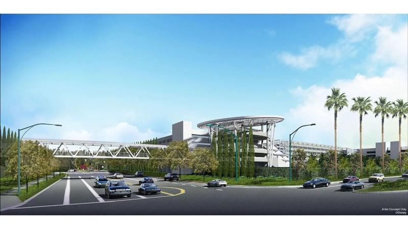 Parking Structure with Pedestrian Bridge Concept Art