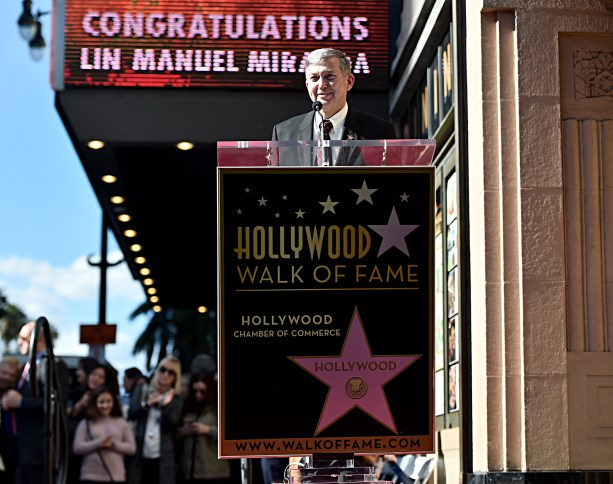 LOS ANGELES, CALIFORNIA - NOVEMBER 30: Hollywood Chamber of Commerce, President/CEO Leron Gubler attends the ceremony honoring Lin-Manuel Miranda with a Star on the Hollywood Walk of Fame on November 30, 2018 in Hollywood, California. (Photo by Alberto E. Rodriguez/Getty Images for Disney)