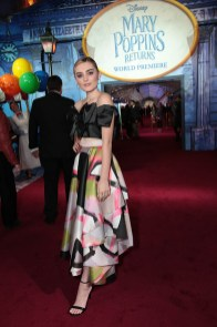 Meg Donnelly attends The World Premiere of Disney's Mary Poppins Returns at the Dolby Theatre in Hollywood, CA on Wednesday, November 29, 2018 (Photo: Alex J. Berliner/ABImages)