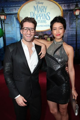 Matthew Morrison and Renee Puente attend The World Premiere of Disney's Mary Poppins Returns at the Dolby Theatre in Hollywood, CA on Wednesday, November 29, 2018 (Photo: Alex J. Berliner/ABImages)