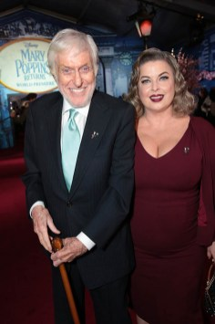 Dick Van Dyke and Arlene Silver attend The World Premiere of Disney's Mary Poppins Returns at the Dolby Theatre in Hollywood, CA on Wednesday, November 29, 2018 (Photo: Alex J. Berliner/ABImages)