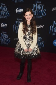 HOLLYWOOD, CA - NOVEMBER 29: Abby Ryder Fortson attends Disney's 'Mary Poppins Returns' World Premiere at the Dolby Theatre on November 29, 2018 in Hollywood, California. (Photo by Alberto E. Rodriguez/Getty Images for Disney) *** Local Caption *** Abby Ryder Fortson