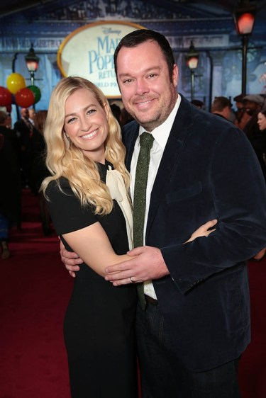 Beth Behrs and Michael Gladis attend The World Premiere of Disney's Mary Poppins Returns at the Dolby Theatre in Hollywood, CA on Wednesday, November 29, 2018 (Photo: Alex J. Berliner/ABImages)