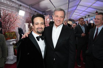 Lin-Manuel Miranda and Bob Iger attend The World Premiere of Disney's Mary Poppins Returns at the Dolby Theatre in Hollywood, CA on Wednesday, November 29, 2018 (Photo: Alex J. Berliner/ABImages)