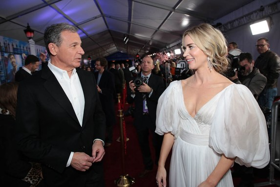Bob Iger and Emily Blunt attend The World Premiere of Disney's Mary Poppins Returns at the Dolby Theatre in Hollywood, CA on Wednesday, November 29, 2018 (Photo: Alex J. Berliner/ABImages)