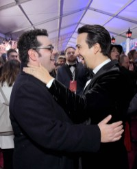 HOLLYWOOD, CA - NOVEMBER 29: Actors Josh Gad (L) and Lin-Manuel Miranda attend Disney's 'Mary Poppins Returns' World Premiere at the Dolby Theatre on November 29, 2018 in Hollywood, California. (Photo by Charley Gallay/Getty Images for Disney) *** Local Caption *** Josh Gad; Lin-Manuel Miranda