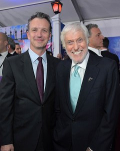 HOLLYWOOD, CA - NOVEMBER 29: President of Walt Disney Studios Motion Picture Production, Sean Bailey (L) and Actor Dick Van Dyke attend Disney's 'Mary Poppins Returns' World Premiere at the Dolby Theatre on November 29, 2018 in Hollywood, California. (Photo by Charley Gallay/Getty Images for Disney) *** Local Caption *** Dick Van Dyke; Sean Bailey