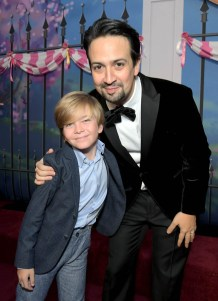 HOLLYWOOD, CA - NOVEMBER 29: Actors Joel Dawson (L) and Lin-Manuel Miranda attend Disney's 'Mary Poppins Returns' World Premiere at the Dolby Theatre on November 29, 2018 in Hollywood, California. (Photo by Charley Gallay/Getty Images for Disney) *** Local Caption *** Joel Dawson; Lin-Manuel Miranda