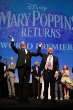 Scott Wittman and Marc Shaiman joined on stage by cast and filmmakers at The World Premiere of Disney's Mary Poppins Returns at the Dolby Theatre in Hollywood, CA on Wednesday, November 29, 2018 (Photo: Alex J. Berliner/ABImages)