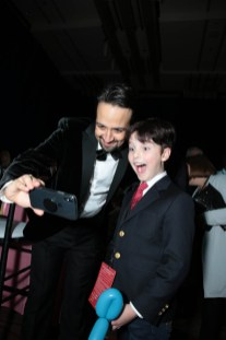 Lin-Manuel Miranda and Iain Armitage take a selfie at The World Premiere of Disney's Mary Poppins Returns at the Dolby Theatre in Hollywood, CA on Wednesday, November 29, 2018 (Photo: Alex J. Berliner/ABImages)