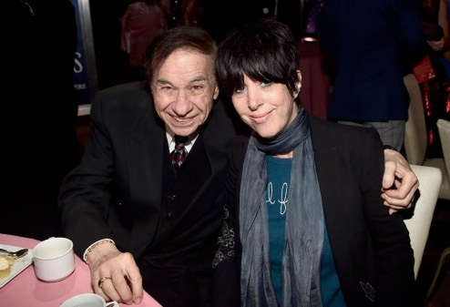 HOLLYWOOD, CA - NOVEMBER 29: Music Consultant Richard Sherman (L) and Diane Warren attend Disney's 'Mary Poppins Returns' World Premiere at the Dolby Theatre on November 29, 2018 in Hollywood, California. (Photo by Alberto E. Rodriguez/Getty Images for Disney) *** Local Caption *** Richard Sherman; Diane Warren