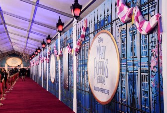 HOLLYWOOD, CA - NOVEMBER 29: A view of the atmosphere at Disney's 'Mary Poppins Returns' World Premiere at the Dolby Theatre on November 29, 2018 in Hollywood, California. (Photo by Alberto E. Rodriguez/Getty Images for Disney)