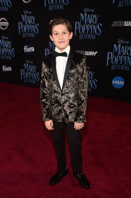 HOLLYWOOD, CA - NOVEMBER 29: Jackson Dollinger attends Disney's 'Mary Poppins Returns' World Premiere at the Dolby Theatre on November 29, 2018 in Hollywood, California. (Photo by Alberto E. Rodriguez/Getty Images for Disney) *** Local Caption *** Jackson Dollinger