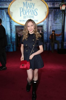 Elliana Walmsley attends The World Premiere of Disney's Mary Poppins Returns at the Dolby Theatre in Hollywood, CA on Wednesday, November 29, 2018 (Photo: Alex J. Berliner/ABImages)