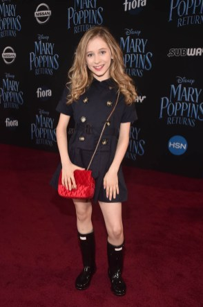 HOLLYWOOD, CA - NOVEMBER 29: Elliana Walmsley attends Disney's 'Mary Poppins Returns' World Premiere at the Dolby Theatre on November 29, 2018 in Hollywood, California. (Photo by Alberto E. Rodriguez/Getty Images for Disney) *** Local Caption *** Elliana Walmsley