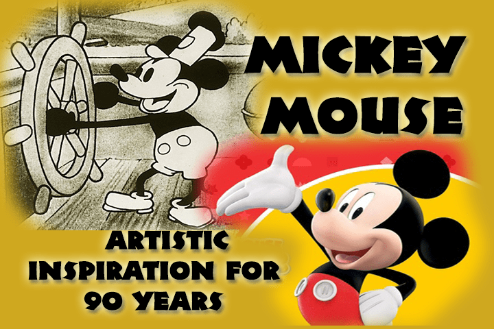 Mickey Mouse – An Artistic Inspiration Throughout 90 Years