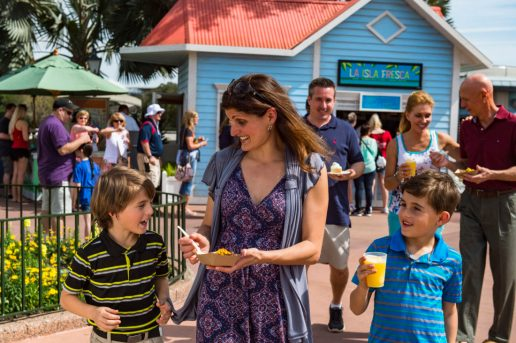 Epcot guests will be able to enjoy food and libations from 15 Outdoor Kitchen during the Epcot International Flower & Garden Festival. The 25th annual festival runs 90 days Feb. 28-May 28, 2018, and features garden Ð and backyard-living -inspired cuisine at Outdoor Kitchens around the World Showcase promenade. Epcot is located at Walt Disney World Resort in Lake Buena Vista, Fla. (Chloe Rice, photographer)