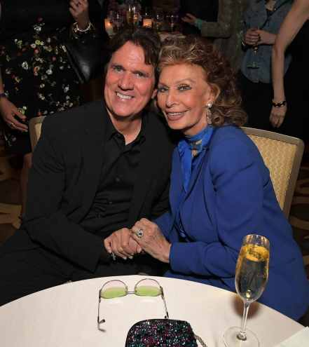"BEVERLY HILLS, CA - JANUARY 11: Sophia Loren host a star-studded reception for ""Mary Poppins Returns,"" nominated for 4 Golden Globe® Awards including Best Picture, 9 Critics' Choice Awards and AFI's Top 10 Films of 2018 at a special screening. Filmmakers joining her at the reception were: director Rob Marshall, producer John DeLuca, director of photography Dion Beebe, production designer John Myhre, composer, songwriter/co-lyricist Marc Shaiman and co-lyricist Scott Wittman>> at Montage Beverly Hills on January 11, 2019 in Beverly Hills, California (Photo by Charley Gallay/Getty Images for Disney) *** Local Caption *** Rob Marshall;Sophia Loren"
