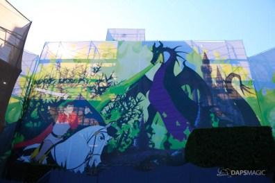 New Scrims on Sleeping Beauty Castle Refurbishment Walk Around at the Disneyland Resort-1