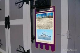 New Scrims on Sleeping Beauty Castle Refurbishment Walk Around at the Disneyland Resort-13