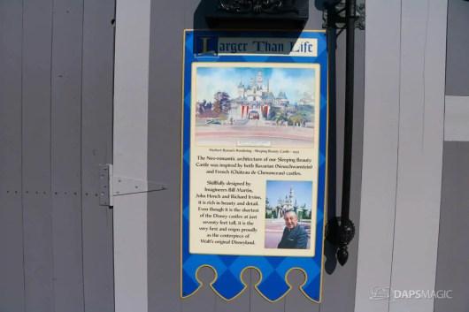 New Scrims on Sleeping Beauty Castle Refurbishment Walk Around at the Disneyland Resort-16