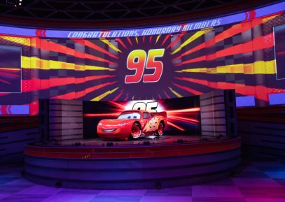 KA-CHOW! Lightning McQueen's Racing Academy debuts March 31, 2019, at Disney's Hollywood Studios at Walt Disney World Resort in Lake Buena Vista, Fla. This new show experience invites guests into the world of Pixar Animation Studios' Cars films as they become rookie racers and learn the rules of the road from Piston Cup Champion Lightning McQueen. (Steven Diaz, Photographer)