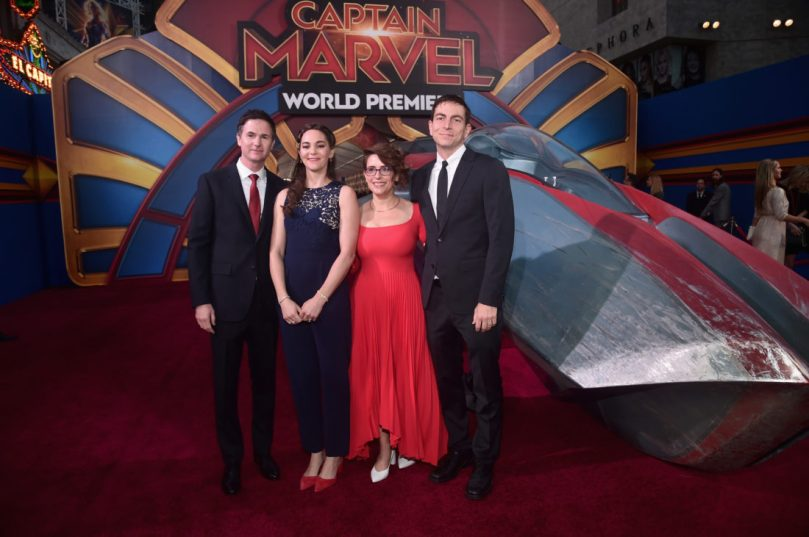 "HOLLYWOOD, CA - MARCH 04: Directors/writers Ryan Fleck (L), Anna Boden (2nd R), and guests attend the Los Angeles World Premiere of Marvel Studios' ""Captain Marvel"" at Dolby Theatre on March 4, 2019 in Hollywood, California. (Photo by Alberto E. Rodriguez/Getty Images for Disney) *** Local Caption *** Ryan Fleck; Anna Boden"