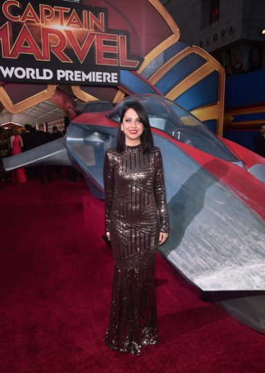 "HOLLYWOOD, CA - MARCH 04: Kathreen Khavari attends the Los Angeles World Premiere of Marvel Studios' ""Captain Marvel"" at Dolby Theatre on March 4, 2019 in Hollywood, California. (Photo by Alberto E. Rodriguez/Getty Images for Disney) *** Local Caption *** Kathreen Khavari"