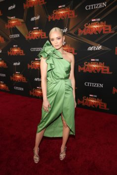 "HOLLYWOOD, CA - MARCH 04: Actor Pom Klementieff attends the Los Angeles World Premiere of Marvel Studios' ""Captain Marvel"" at Dolby Theatre on March 4, 2019 in Hollywood, California. (Photo by Jesse Grant/Getty Images for Disney) *** Local Caption *** Pom Klementieff"