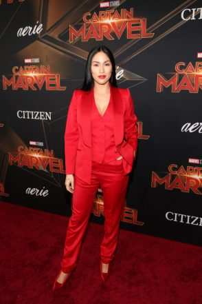 "HOLLYWOOD, CA - MARCH 04: Stephanie Shepherd attends the Los Angeles World Premiere of Marvel Studios' ""Captain Marvel"" at Dolby Theatre on March 4, 2019 in Hollywood, California. (Photo by Jesse Grant/Getty Images for Disney) *** Local Caption *** Stephanie Shepherd"