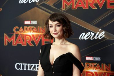 "HOLLYWOOD, CA - MARCH 04: Actor Milana Aleksandrovna Vayntrub attends the Los Angeles World Premiere of Marvel Studios' ""Captain Marvel"" at Dolby Theatre on March 4, 2019 in Hollywood, California. (Photo by Jesse Grant/Getty Images for Disney) *** Local Caption *** Milana Aleksandrovna Vayntrub"
