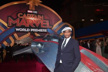 "HOLLYWOOD, CA - MARCH 04: Actor Samuel L. Jackson attends the Los Angeles World Premiere of Marvel Studios' ""Captain Marvel"" at Dolby Theatre on March 4, 2019 in Hollywood, California. (Photo by Alberto E. Rodriguez/Getty Images for Disney) *** Local Caption *** Samuel L. Jackson"