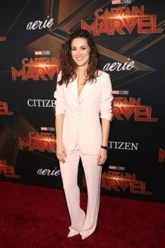 "HOLLYWOOD, CA - MARCH 04: Actor Stefania Spampinato attends the Los Angeles World Premiere of Marvel Studios' ""Captain Marvel"" at Dolby Theatre on March 4, 2019 in Hollywood, California. (Photo by Jesse Grant/Getty Images for Disney) *** Local Caption *** Stefania Spampinato"